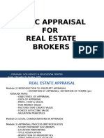 Basic Appraisal for Real Estate Broker