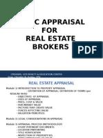 Basic Appraisal for Real Estate Broker