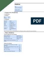 Bara Cilindrica Stress Analysis