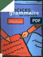 Exercices de Grammaire en Contexte - Intermediaire