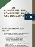 Analisis Kompetensi Inti, Kompetensi Dasar Dan Indikator