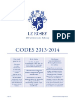 Code d'Honneur du Rosey (Suisse)