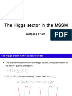 Higgs Sector in the MSSM (2010) - Frisch