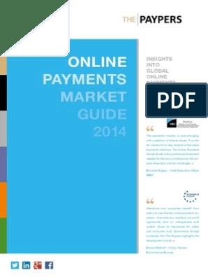 ONLINE PAYMENTS MARKET GUIDE 2014   E Commerce   Retail