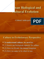 Human Biological and Cultural Evolution
