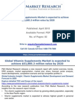 Global Vitamin Supplements Market is expected to achieve $53,885.3 million value by 2020