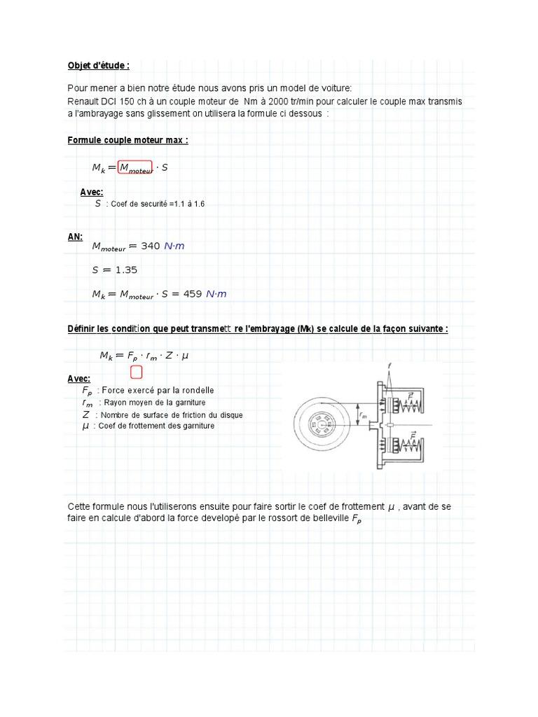 Calcul Embrayagedocx
