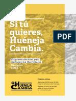 Programa Electoral de Huéneja Cambia.
