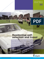 A_W. Bohte Residential Self-Selection and Travel the Relationship Between Travel-Related Attitudes, Built Environment Characteristics and Travel Behaviour - Vol