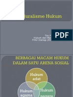 Pluralisme Hukum Untuk Pertemuan Ke 4 Hkm n Masy