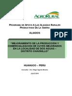 perfil de producción de cuyes