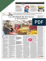 La Obesidad de Los Ricos y de Los Pobres
