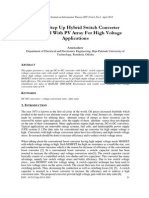 A High Step Up Hybrid Switch Converter Connected With PV Array For High Voltage Applications
