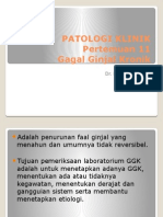 Patologi Klinik Pertemuan 11 Ggk