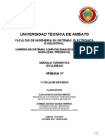 Modulo Fisica 1( 2014-2015)