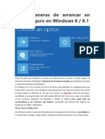 Formas de Arancar Windows 8- 8.1