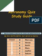 astronomy (quiz study guide)