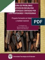 Problemas Educativos en Escuelitas de Cojutepeque, contados por profesores y profesoras