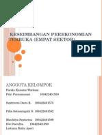 Keseimbangan Perekonomian Terbuka (Empat Sektor)