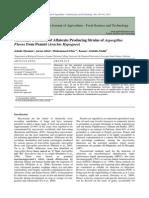 Aflatoxin identification in Arachis hypogea