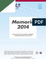 Memoria FCIHS 2014