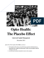 Opko Health the Placebo Effect