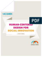 Human-Centred Design for Social Innovation