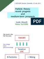 Particle Theory - Recent Progress and Medium-Term Progress (2011) - Altarelli