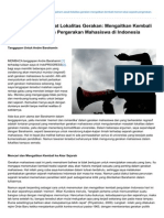 Indoprogress.com-Menolak Paham Sesat Lokalitas Gerakan Mengaitkan Kembali Memori Akar Sejarah Pergerakan Mahasiswa Di
