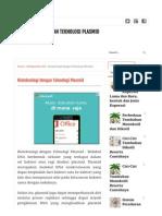 Artikel Bioteknologi Dengan Teknologi Plasmid (1)