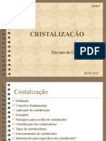 Aula 01 - Cristalização