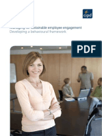 Managing for Sustainable Employee Engagement Developing a Behavioural Framework 2012