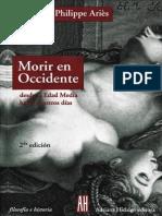 Ariès, P. - Morir en Occidente