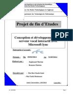 Conception et développement d'un serveur vocal Locatif microsoft Lync
