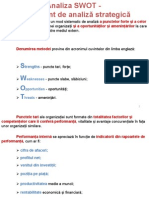 Analiza SWOT - Instrument de Analiza Strategica