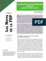 Les inégalités environnementales en France. Analyse - Constat - Action
