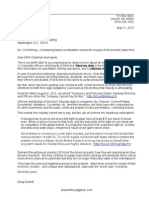 11 May 2015 Letter to US Senate Ctee on Energy & Natural Resources