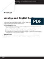 Module 01 - Analog and Digital Audio
