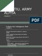 Cfit, Tiu, Army Alpha -2015un