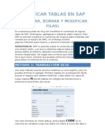 Modificar Tablas de SAP