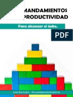 Los 10 Mandamientos de La Productividad - José Bermúdez-EDP