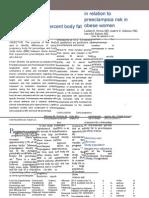 Jurnal Body Fat in SPE Risk