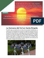 Canarias y El Sol. Reportaje