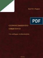 POPPER, Karl, Conocimiento Objetivo - Un Enfoque Evolucionista.pdf