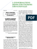 Lettre d'informations Economiques Strategiques Internationales