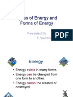 Types and Forms of Energy