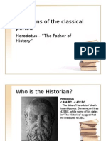 2. Historians of the Classical Period - Herodotus