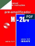 Manual de Instruções do Pré-Amplificador M 204
