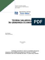 Teoria Salariului in Gandirea Economica