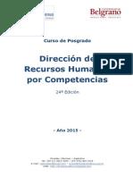 Programa Dirección de RRHH Por Competencias - Posadas 2015